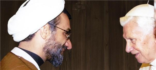 دیدار حجت الاسلام خسروپناه با پاپ بندیکت شانزدهم