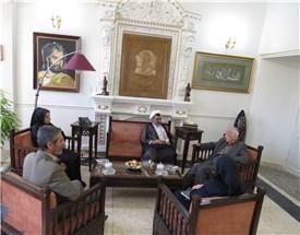 دیدار و گفتگوی رئیس مؤسسه پژوهشی حکمت و فلسفه ایران با دکتر مهدی محقق